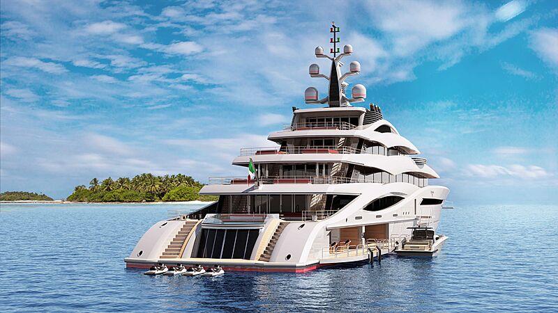 Project Century X yacht concept exterior design