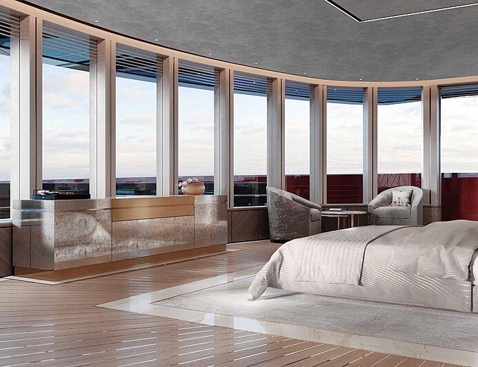 Project Century X yacht concept interior design