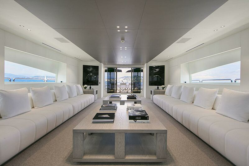 Pure One yacht saloon