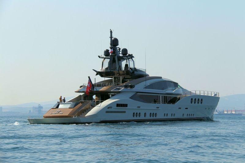 lady M cruising off Gibraltar