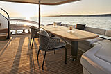 Princess X95/02 yacht aft deck