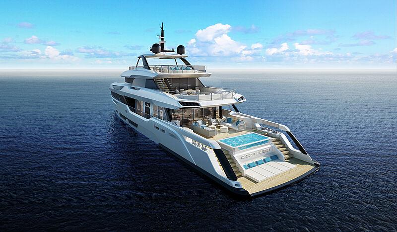 Baglietto DOM133 yacht exterior rendering