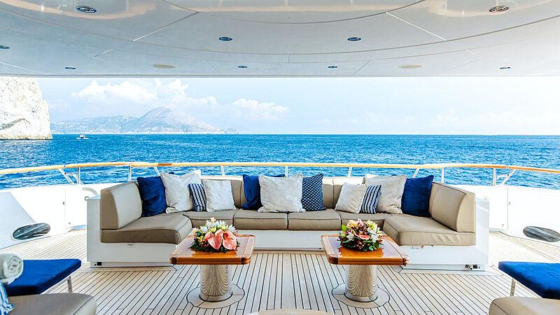Revelry yacht aft deck
