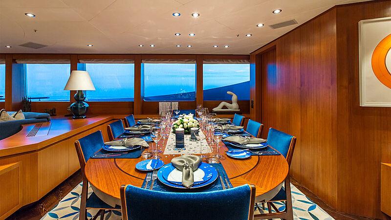 Revelry yacht dining
