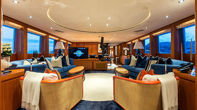 Revelry yacht saloon