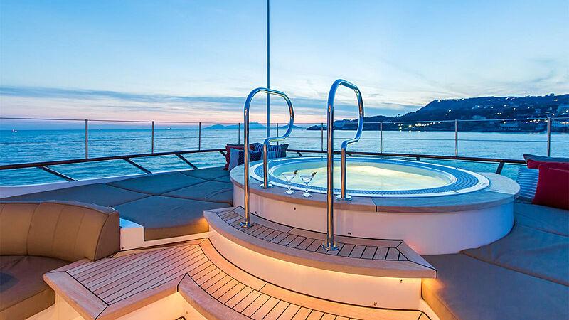 Revelry yacht jacuzzi