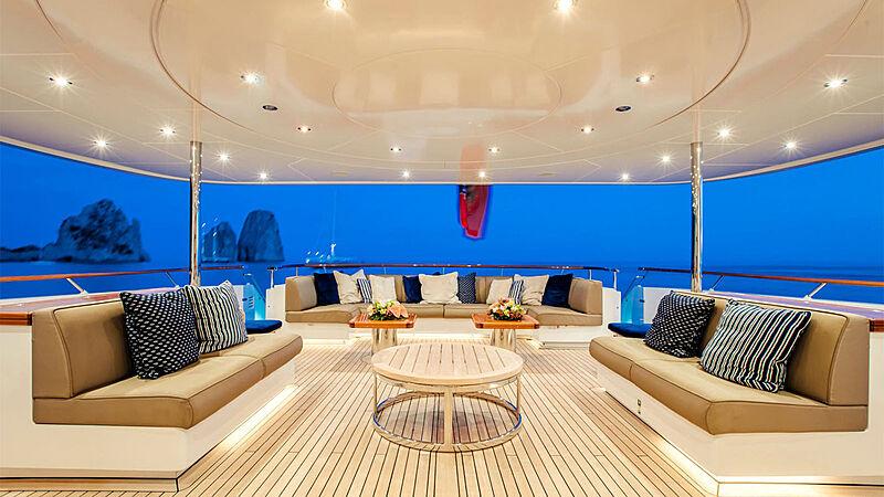 Revelry yacht sun deck