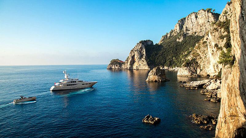 Revelry yacht anchored