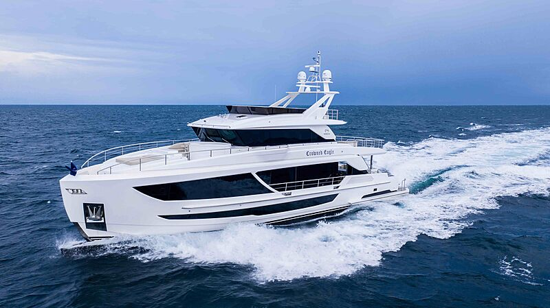 Crowned Eagle yacht cruising