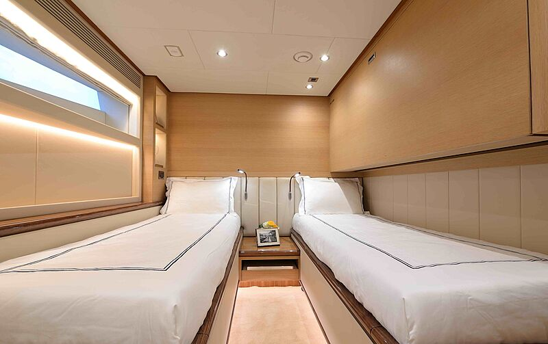 Crowned Eagle yacht stateroom