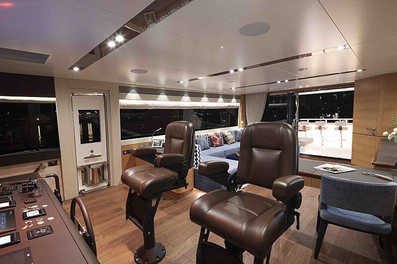 Crowned Eagle yacht wheelhouse