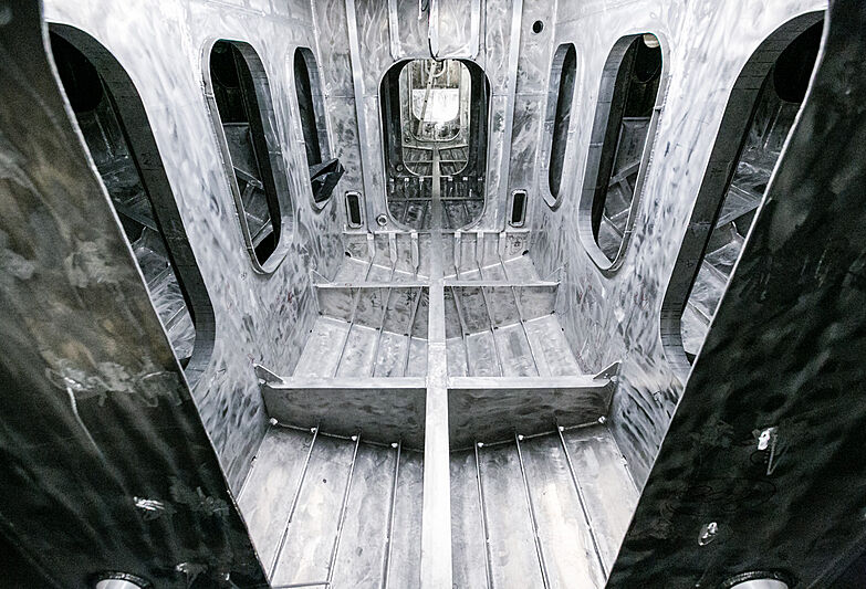 King Shark yacht under construction
