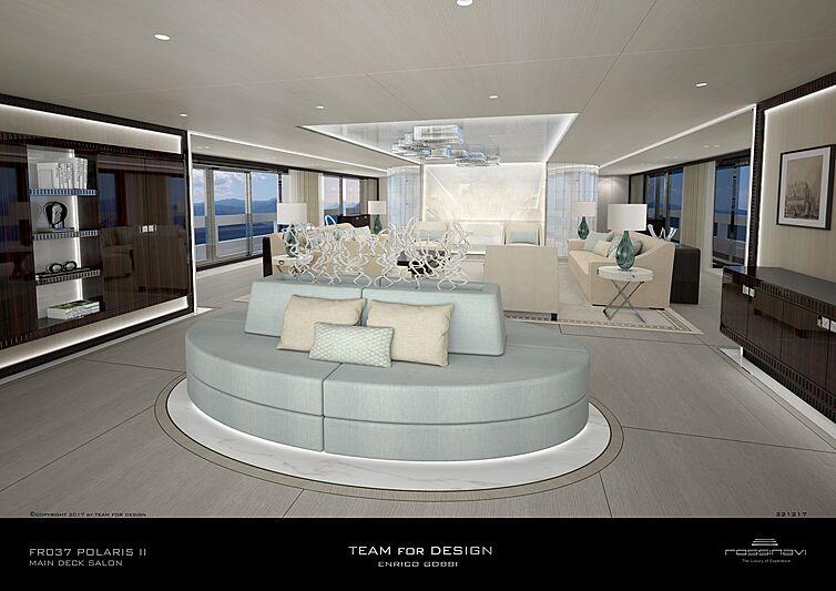 King Shark yacht main deck saloon