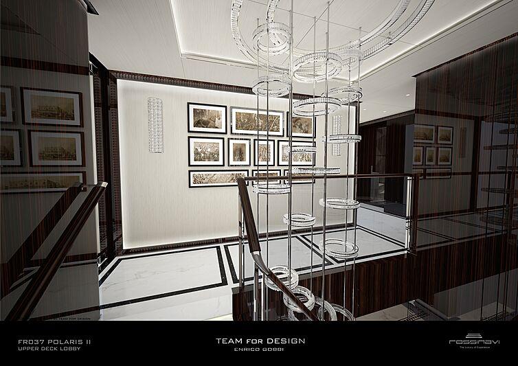 King Shark yacht upper deck lobby rendering