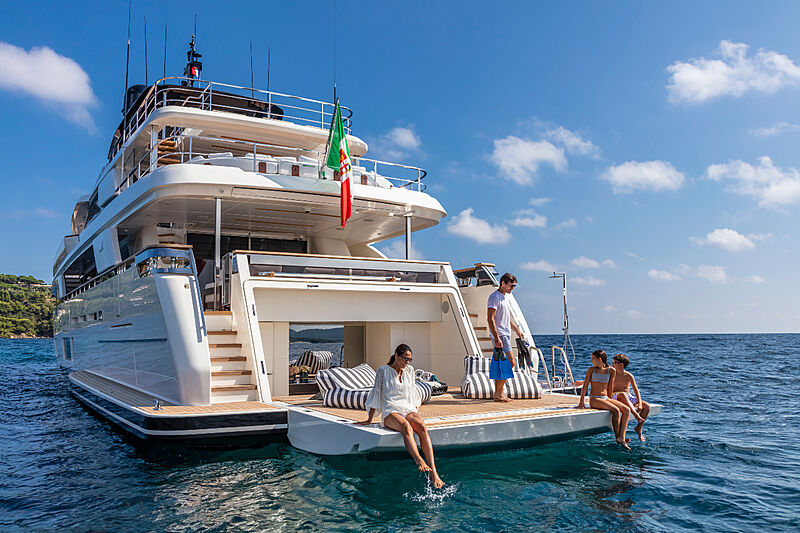 Navetta 42 yacht anchored