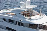 White yacht deck