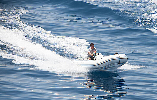 White yacht tender