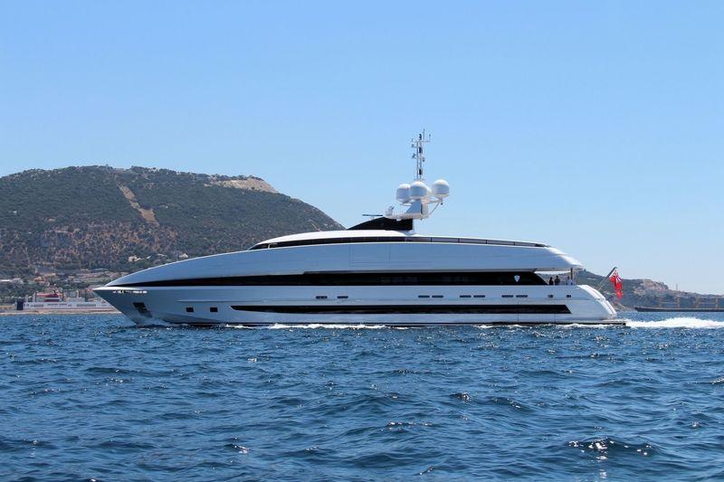 Crazy Me cruising off Gibraltar