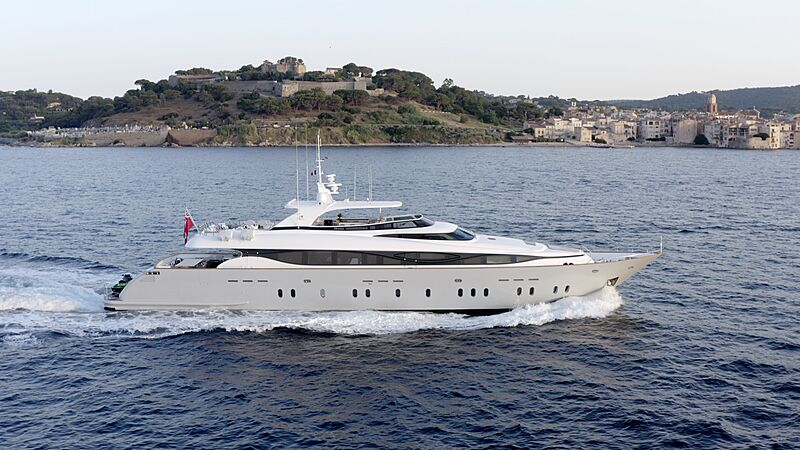 M yacht profile running