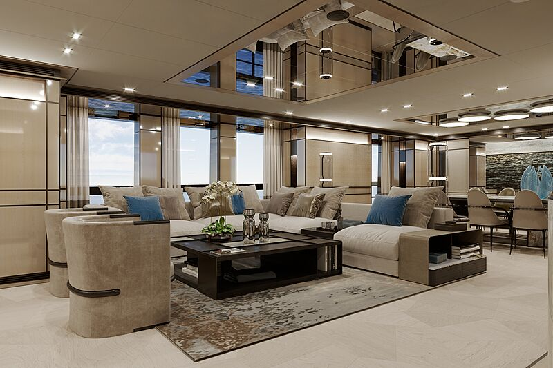 Gemini yacht interior design