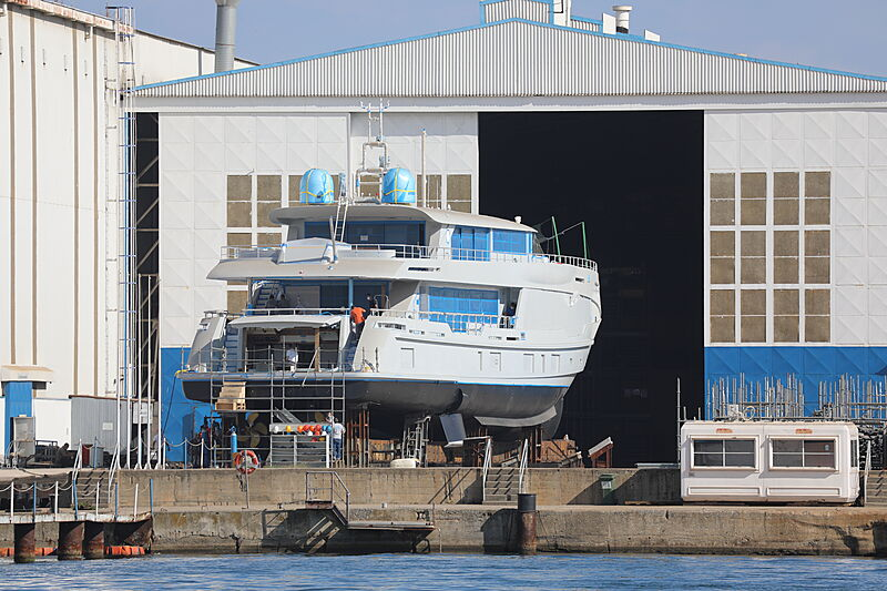M55 yacht in build at Yildiz shipyard