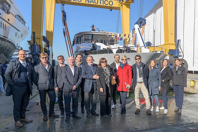 Gulu II yacht launch in La Spezia