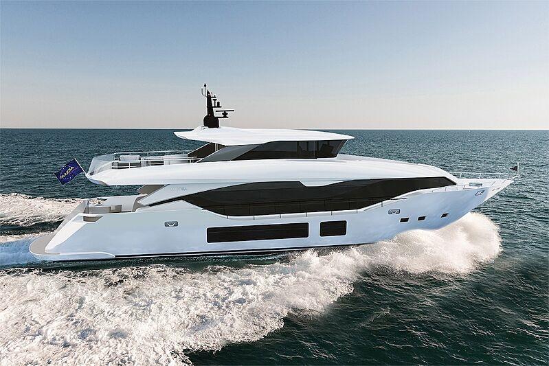 Gulu II yacht exterior rendering