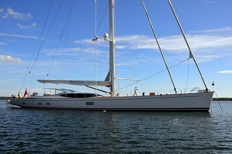 Artemis yacht anchored