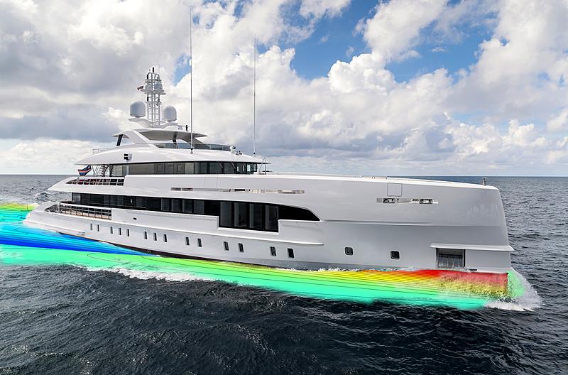 Yacht of 2030 concept exterior design