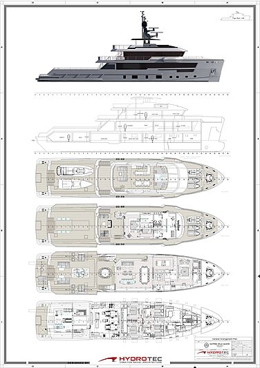 CdM Flexplorer 142 yacht layout