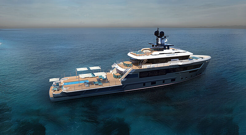 CdM Flexplorer 142 yacht exterior design