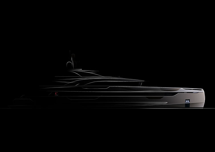 Project Lady yacht rendering