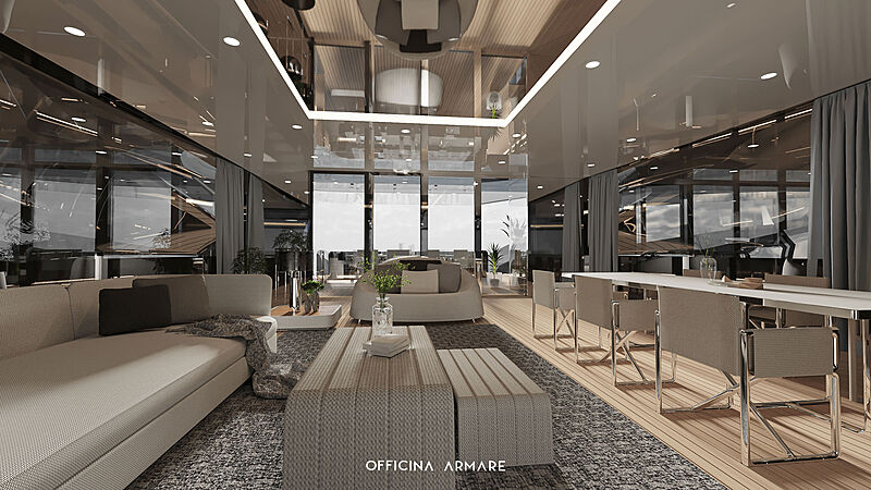 BadGal yacht concept interior design