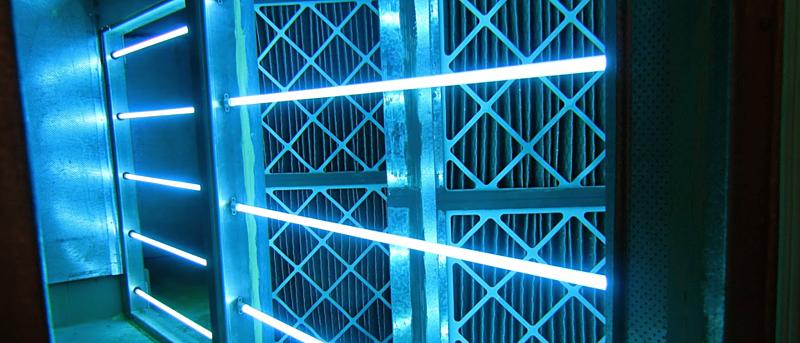 UV-C light for air ventilation system