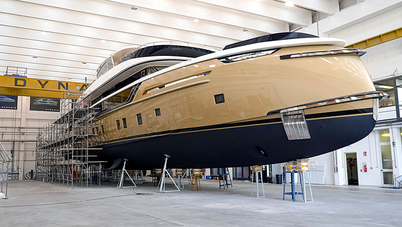 Stefania yacht ready for launch in Tuscany