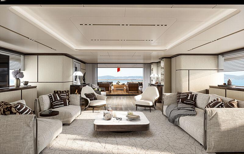 Rinascimento yacht interior design