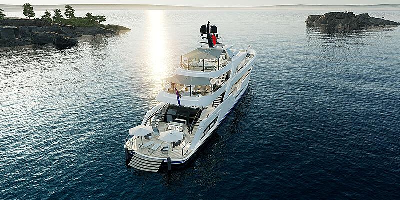 Al Waab II yacht exterior design