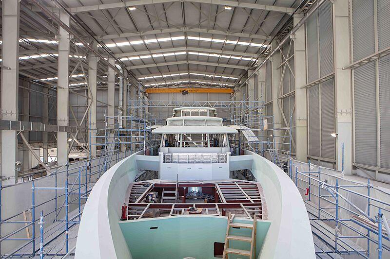 Al Waab II yacht in build