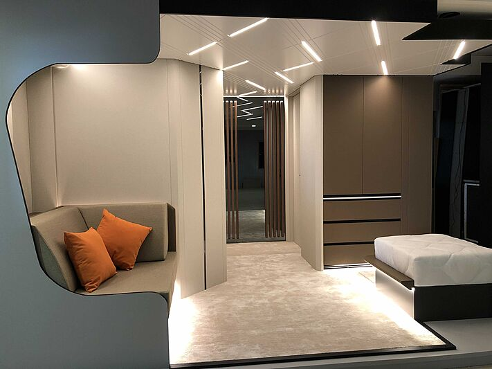 Al Waab II yacht interior design