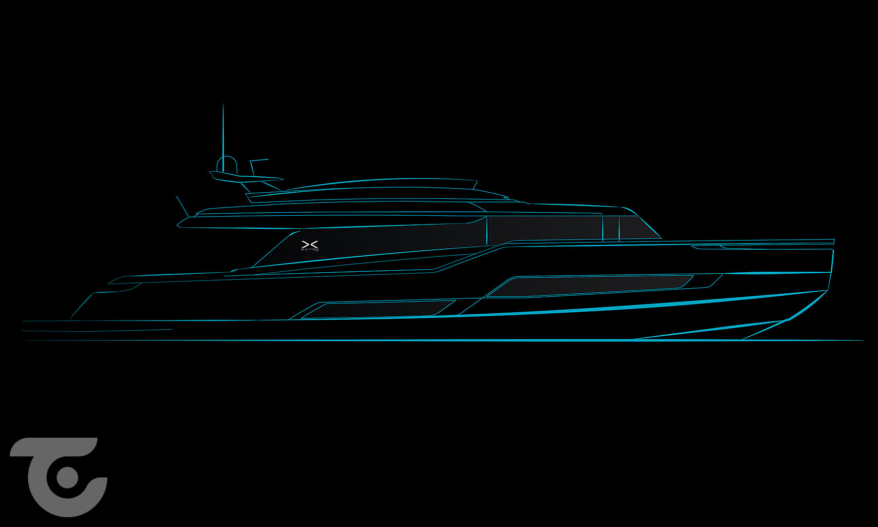 ISA Extra X99 yacht rendering