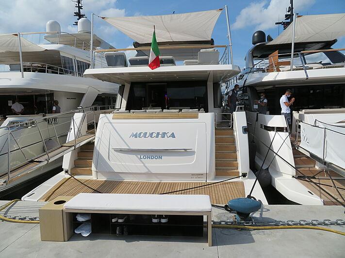Mouchka yacht at Genoa International Boat Show 2020