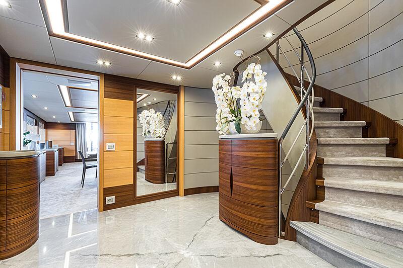 Zazou yacht hall & staircase