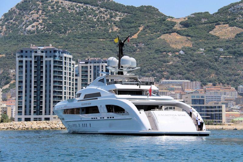Galactica Star cruising off Gibraltar