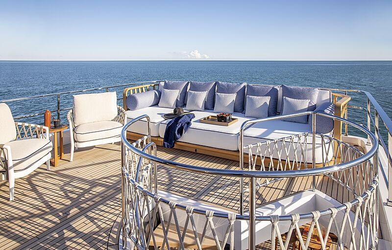 Custom Line Navetta 30 hull 01 yacht upper deck