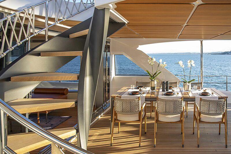 Custom Line Navetta 30 hull 01 yacht aft deck