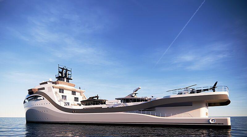 Protean 95 yacht exterior design