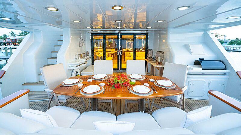 Hiatus yacht deck