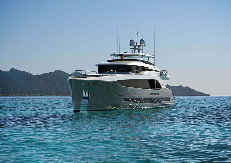 Burger 120 Raised Pilothouse yacht concept exterior design