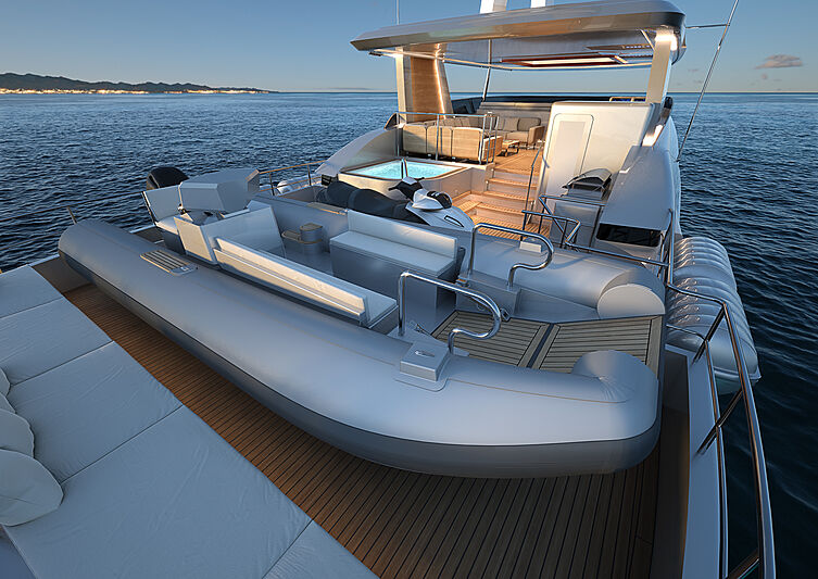 Burger 120 Raised Pilothouse yacht concept interior design