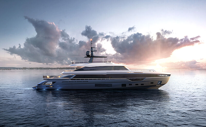 Azimut Grande 38 Metri yacht rendering